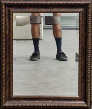 Beveled Framed Wall Mirror
