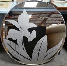 Circular Etched Mirror