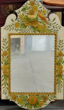 Spring Framed Hanging Mirror
