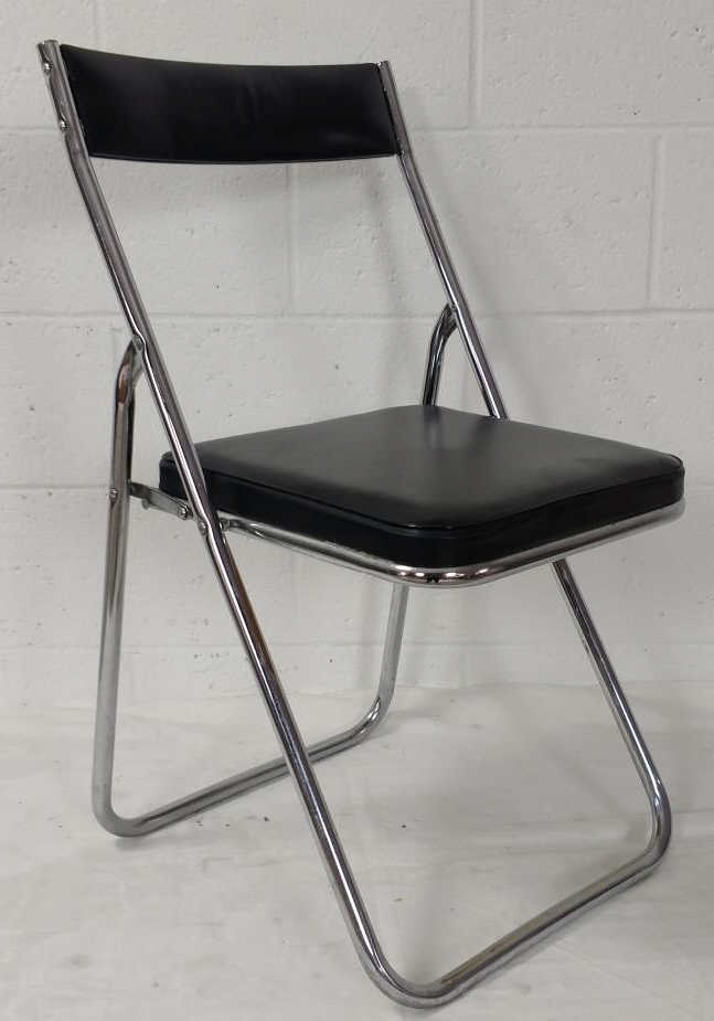 Steel Leather Fold Up Chair