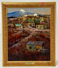 """Austin Deuel """"Pueblo De La Guna"""" Oil on Canvas"""