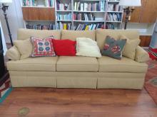 Ethan Allen Traditional Skirted Sofa