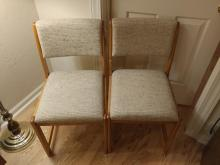 2pc. Mid-Century Modern Armless Chairs