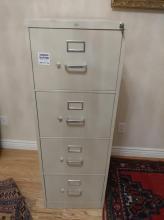 2pc. 4 Drawer Metal Filing Cabinets