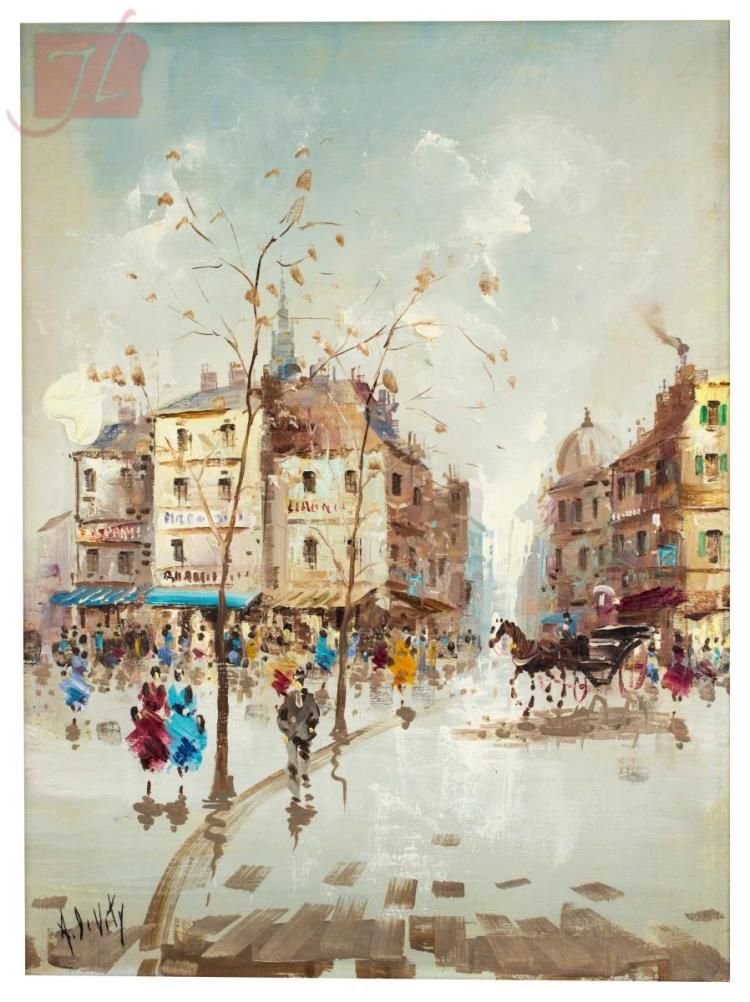 Antonio Devity 1901 1993 Paris Street Scene