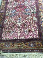 Oriental Area Rug, Burgundy Background