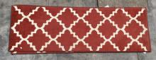 3Pc. Orian Rug Tunnis, Cherry Red Runners