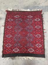 Hand Woven Wool & Horse Hair  Accent Rug