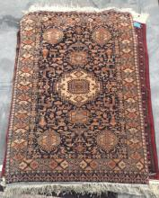 Hand Woven Tribal Area Rug, Brown Bkgd