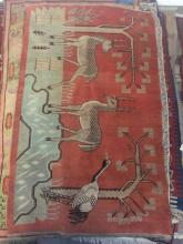 Hand Woven Animal Motif Area Rug