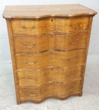 20th C. Oak Bombay Style Vertical Dresser
