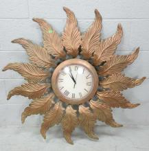Bronze Tone Wall Clock
