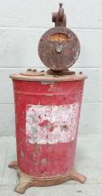 20th C. Barrel Hand Crank Pump
