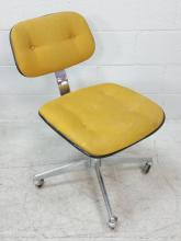 Mid-Century Mod Upholstered Rolling Office Chair