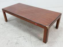 Brass Accented Corner Coffee Table