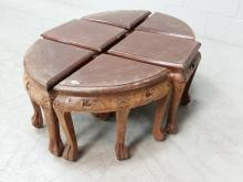 6pc. Carved Asian Fractional Table