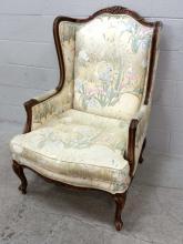 Heron Scene Upholstered Wingback Chair