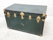 20th C. Banded Storage Trunk