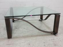 Contemporary Wave Metal Coffee Table