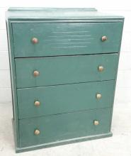 Retro Style Vertical Tall Boy Dresser