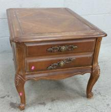 Traditional Carved Wood Accent Table