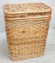 Woven Wicker Laundry Basket