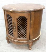 Traditional Mesh Accent Door Storage Accent Table