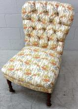 20th C. Tufted  Upholstered Accent Chair