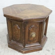 20th C. Octagon Storage Accent Table
