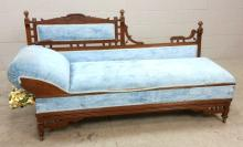 20th C. Upholstered Day Bed/Matress