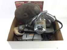 Buffer, Sears Electric Drill & Black & Decker Saw