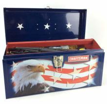 America USA Patriotic Craftsman Tool Box & Tools