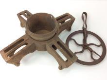 2Pc. Rustic Iron Base Piece & Scale Piece