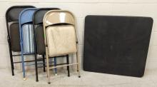 5pc. Folding Table & Chairs