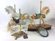 4Pc. Carousel Horse Figures