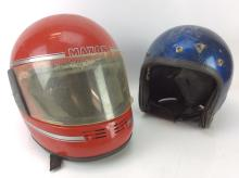 2Pc. Red &Blue Motorcycle Helmets