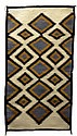 Native American Rug, Black Diamonds
