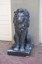 Pair of Resin Lions