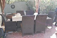 Outdoor Patio Set with 6 chairs