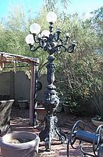 Bronze Cast street light