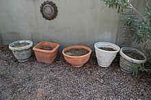 Five Misc. Outdoor Planters