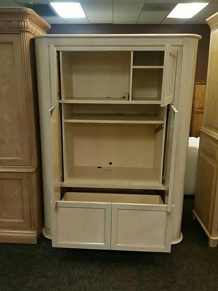Regency Solid Wood Entertainment Storage Cabinet Good Used Condition