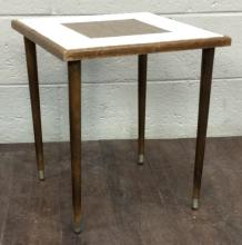 Mid-Century Modern Formica & Tile Top Side Table
