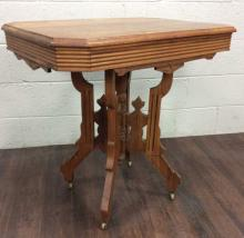 19th C. Eastlake Wood Accent Table