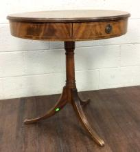 20th C. Elegant Wood Pedestal Accent Table