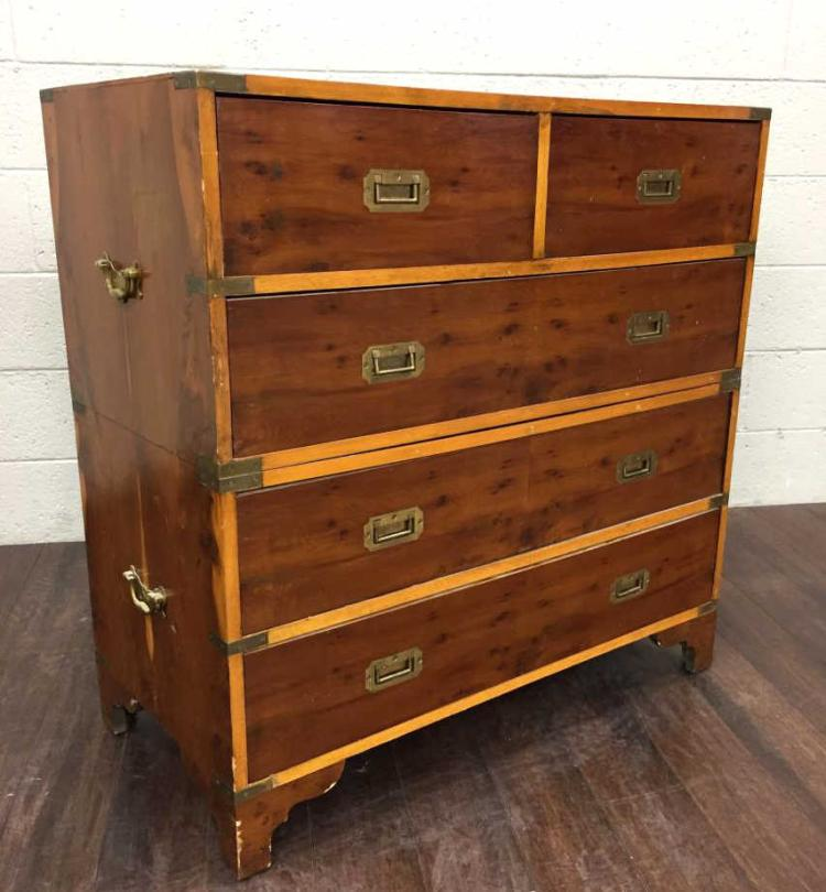 20th C. Wood 4 Drawer Chest of Drawers