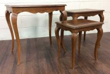 3Pc. 20th C. Wood Nesting Tables