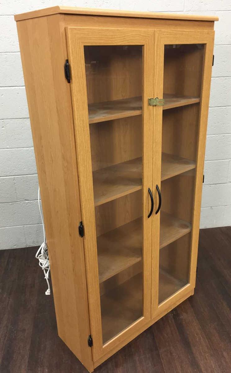 Illuminated Laminate Wood Cabinet