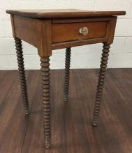 20th C. Turned Wood Accent Table