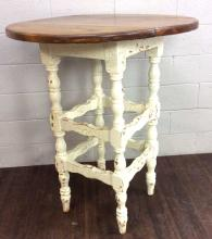 20th C. Shabby-Chic Distressed Base Wood Table